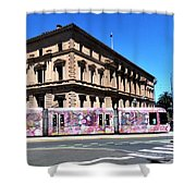 Colourful Tram At Old Treasury Building Shower Curtain