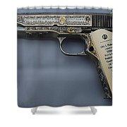 Colt 1911 Shower Curtain