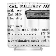 Colt .45 Automatic Pistol Shower Curtain