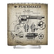 Colt .45 Peacemaker Revolver Patent  1875 Shower Curtain