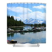 Colter Bay On Jackson Lake  Shower Curtain