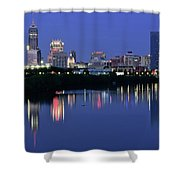 Colts Blue Hour Night Shower Curtain