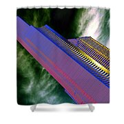 Columbia And Municipal Towers Seattle Wa Shower Curtain
