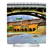 Columbia Canal At Gervais Street Bridge Shower Curtain by Lisa Wooten