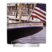 Columbia From The Stern Shower Curtain
