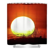 Columbia Gorge Sunset Shower Curtain