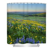 Columbia Hills Wildflower Dawn Shower Curtain