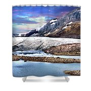 Columbia Ice Field And Athabaska Glacier Shower Curtain