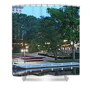 Columbia Lakefront Panorama Shower Curtain
