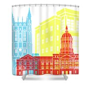 Columbia Mo Skyline Pop Shower Curtain