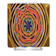 Columbia River Abstract #8045 Shower Curtain