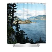 Columbia River Cliffside Shower Curtain