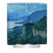 Columbia River Gorge Panoramic Shower Curtain