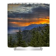 Columbia River Gorge Sunrise Shower Curtain