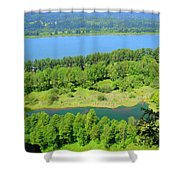 Columbia River Gorge View Shower Curtain
