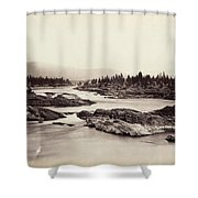 Columbia River: Kettle Falls Shower Curtain