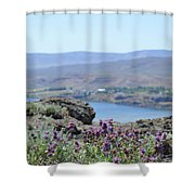 Columbia River Scenic Blooms #1 Shower Curtain