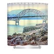 Columbia River Vantage Bridge Shower Curtain