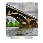 Columbia S C Gervais Street Bridge Shower Curtain
