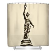 Columbia Statue Atop Memorial Hall Shower Curtain
