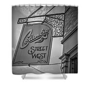 Columbia Street Shower Curtain by Michael Colgate