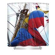 Columbian Mast Shower Curtain