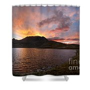 Columbine Lake Sunset - Weminuche Wilderness - Colorado Shower Curtain