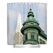 Columbus Avenue - San Francisco, California Shower Curtain