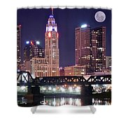 Columbus By Moonlight Shower Curtain