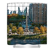 Columbus Circle Shower Curtain by S Paul Sahm