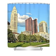 Columbus From The Park Shower Curtain