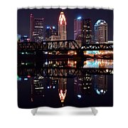 Columbus Ohio Reflecting On The River Shower Curtain