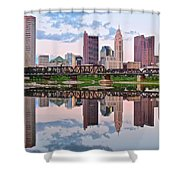 Columbus Ohio Reflects Shower Curtain