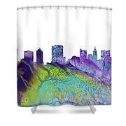 Columbus Skyline 3 Shower Curtain