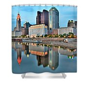 Columbus Squared Shower Curtain