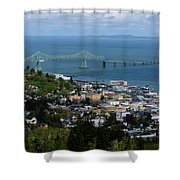 Column View Shower Curtain