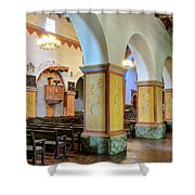 Columns At San Juan Bautista Mission Shower Curtain
