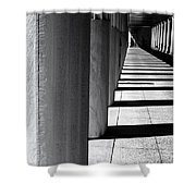 Columns In Athens Shower Curtain