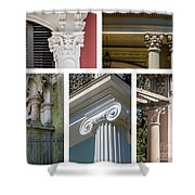 Columns Of New Orleans Collage 2 Shower Curtain
