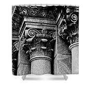 Columns Of St. Roch Church Watercolor Shower Curtain