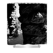 Columns Of The Park Guell Shower Curtain by Agusti Pardo Rossello