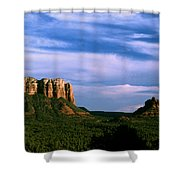 Colurt House Butte And Bell Rock Shower Curtain