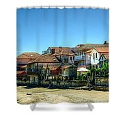 Combarro Village Waterfront Panorama Shower Curtain