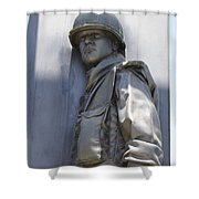 Combat Airman Shower Curtain