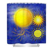 Combating Suns Shower Curtain