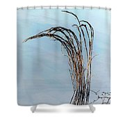 Combie Lake Reeds Shower Curtain