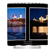 Combined Nubble Shower Curtain