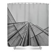 Comcast Center Inside Corner - Philadelphia Gritty Black And Whi Shower Curtain