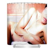 Come Be Quiet Here My Love  Shower Curtain