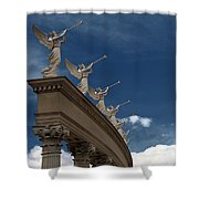 Come Blow Your Horn - Angels And Trumpets - Caesars Palace Las Vegas Shower Curtain